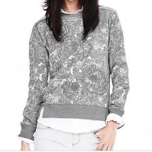 BR Floral Appliqué Sweatshirt